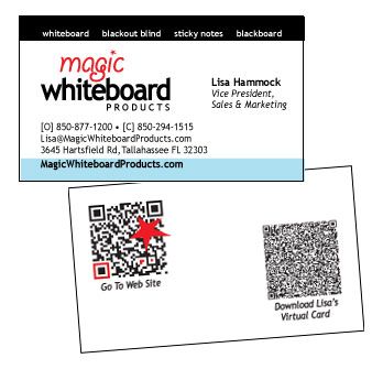 Magic Whiteboard Business Cards